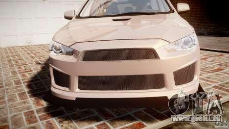 Mitsubishi Lancer Evolution X pour GTA 4 vue de dessus