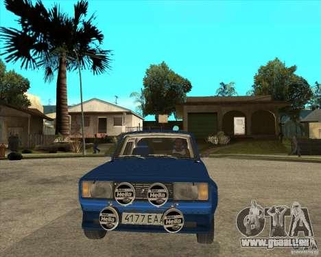 LADA 2105 VFTS Rallye für GTA San Andreas Rückansicht