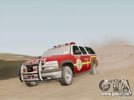 Chevrolet Suburban SFFD für GTA San Andreas Räder