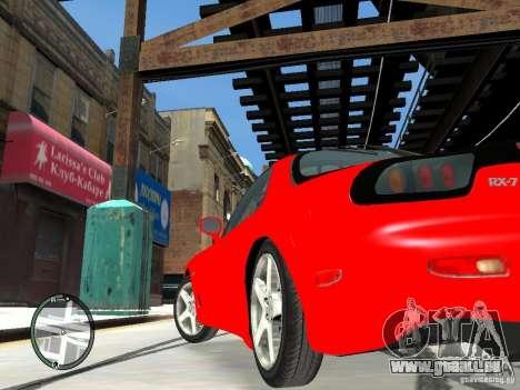 Mazda RX-7 Type RZ pour GTA 4 Vue arrière