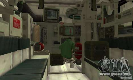 Stryker für GTA San Andreas Seitenansicht