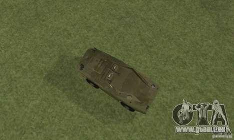BRDM-1 peau 4 pour GTA San Andreas vue arrière