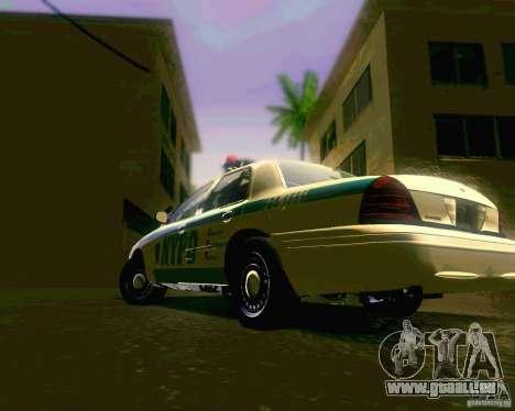 Ford Crown Victoria 2003 NYPD police pour GTA San Andreas vue de droite