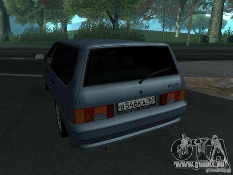 Tourisme 2114 ВАЗ pour GTA San Andreas sur la vue arrière gauche