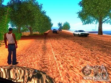 Pilotes normale sur la piste pour GTA San Andreas deuxième écran