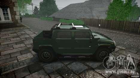 Hummer H2 pour GTA 4 est une vue de l'intérieur