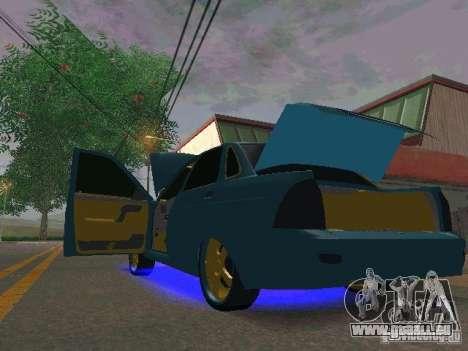 LADA 2170 Priora Gold Edition pour GTA San Andreas sur la vue arrière gauche
