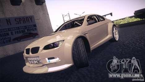 BMW M3 E92 Tuned für GTA San Andreas obere Ansicht