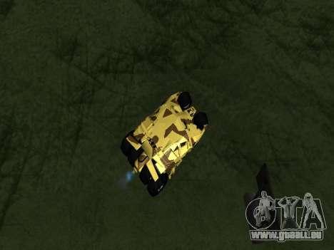 Army Tumbler v2.0 pour GTA San Andreas vue arrière