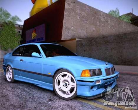 BMW M3 E36 1995 pour GTA San Andreas vue de dessus