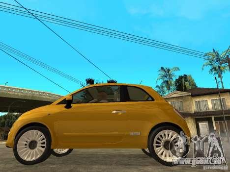 Fiat 500 C pour GTA San Andreas laissé vue