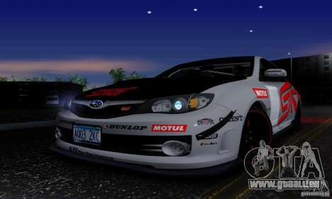 2008 Subaru Impreza Tuneable pour GTA San Andreas