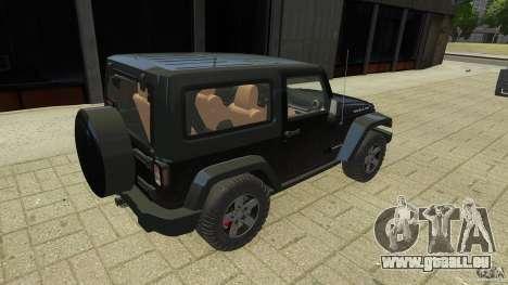 Jeep Wrangler Rubicon 2012 pour GTA 4 Vue arrière de la gauche