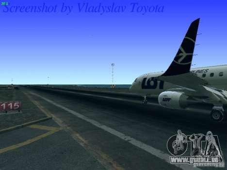 Embraer ERJ 190 LOT Polish Airlines für GTA San Andreas Innenansicht