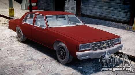 Chevrolet Impala 1983 pour GTA 4 est une vue de l'intérieur