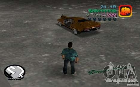 Delorean DMC-13 für GTA Vice City zurück linke Ansicht