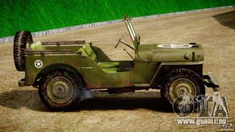 Jeep Willys [Final] für GTA 4 hinten links Ansicht