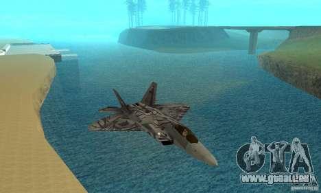 F-22 Starscream für GTA San Andreas obere Ansicht