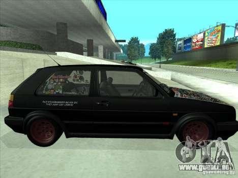 Volkswagen Golf 2 Rat Style pour GTA San Andreas vue de droite