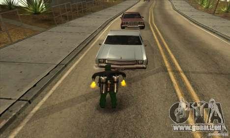 Schießen mit einer Flinte gesägt-off mit Jetpack für GTA San Andreas zweiten Screenshot