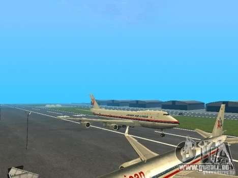 Boeing 747-100 Japan Airlines für GTA San Andreas linke Ansicht