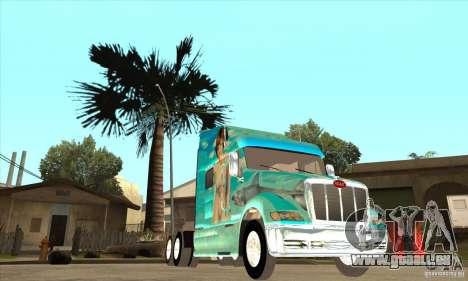 Peterbilt 387 peau 4 pour GTA San Andreas vue intérieure