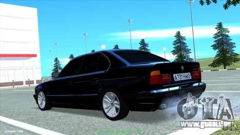 BMW E34 V1.0 pour GTA San Andreas vue intérieure