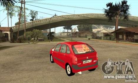 Citroen Xsara Picasso für GTA San Andreas zurück linke Ansicht