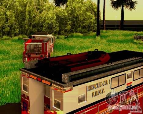Pumper Firetruck Pierce F.D.N.Y pour GTA San Andreas vue intérieure