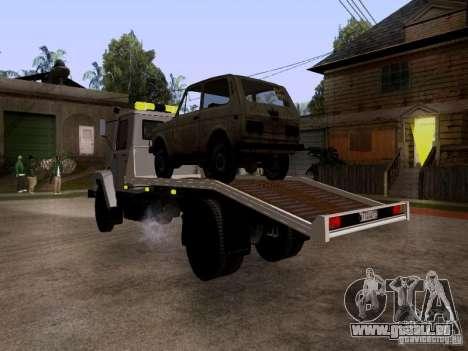 GAZ 3309 Abschleppwagen für GTA San Andreas rechten Ansicht