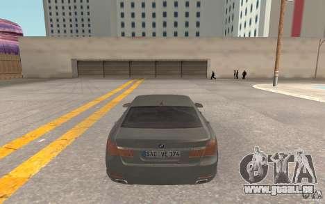 BMW 730d pour GTA San Andreas vue de droite