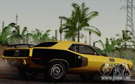 Plymouth Hemi Cuda 426 1971 pour GTA San Andreas vue intérieure