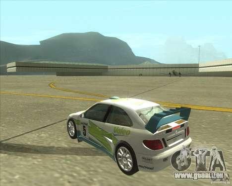 Citroen Xsara 4x4 T16 pour GTA San Andreas laissé vue