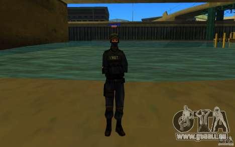 HQ skin S.W.A.T pour GTA San Andreas troisième écran
