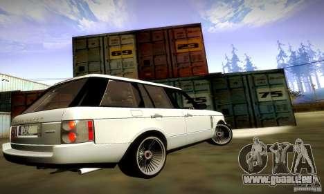 Range Rover Supercharged pour GTA San Andreas vue de dessous