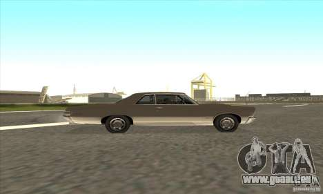 Pontiac GT-100 für GTA San Andreas Innenansicht