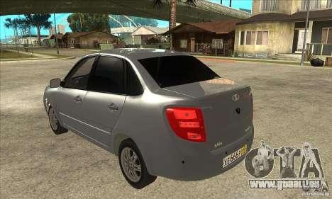 2190-VAZ Lada Granta Grant pour GTA San Andreas sur la vue arrière gauche