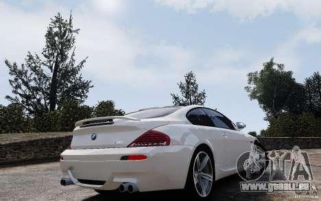 BMW M6 2010 v1.4 pour GTA 4 est une vue de l'intérieur