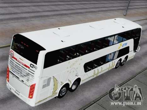 Busscar Panoramico DD 8x2 für GTA San Andreas Innenansicht