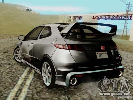 Honda Civic TypeR Mugen 2010 für GTA San Andreas linke Ansicht
