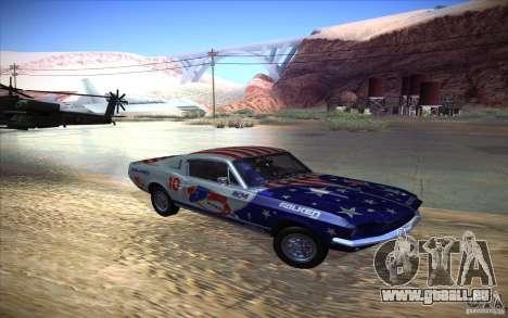 Shelby GT500 1967 pour GTA San Andreas vue arrière