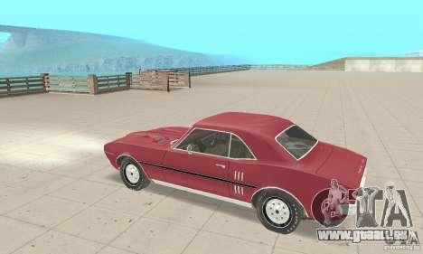 Pontiac Firebird 1968 für GTA San Andreas Rückansicht