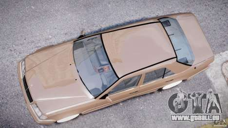 Mercedes-Benz W124 E500 1995 pour GTA 4 vue de dessus