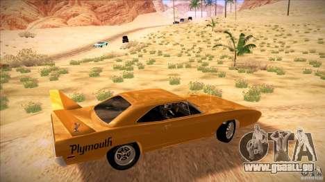 Plymouth Roadrunner Superbird Custom für GTA San Andreas linke Ansicht