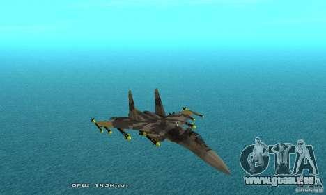Su-37 Terminator pour GTA San Andreas vue de dessus