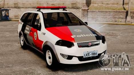 Fiat Palio Weekend Trekking 2013 PMESP ELS für GTA 4