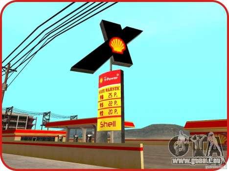 Nouvelle station d'essence Shell pour GTA San Andreas