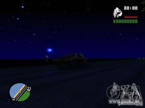 Ciel étoilé V 2.0 (solo) pour GTA San Andreas quatrième écran