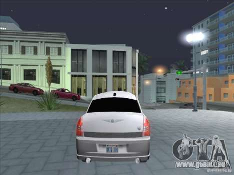 Chrysler 300C Limo für GTA San Andreas zurück linke Ansicht