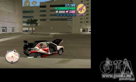 Mitsubishi Lancer Evo VIII pour une vue GTA Vice City de la droite